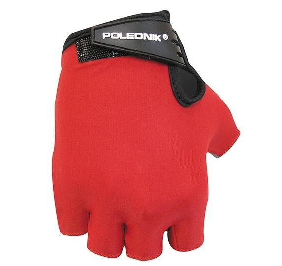 Cyklistické rukavice Polednik Basic 2015 červené - XL