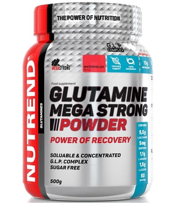 Nutrend Glutamin Mega Strong 500 g - punč + brusinka