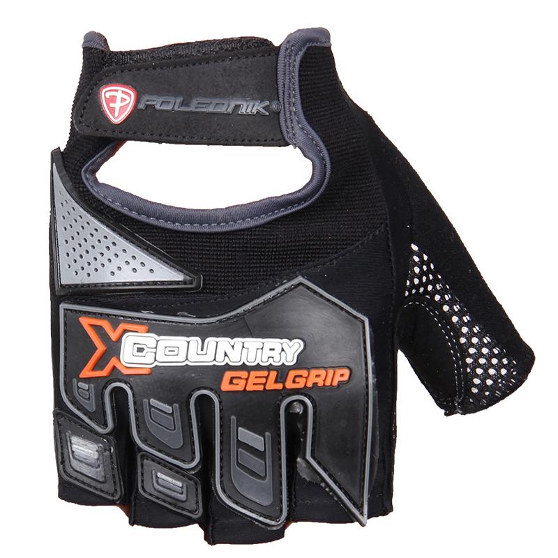 Cyklistické rukavice Polednik X Country černé - XL