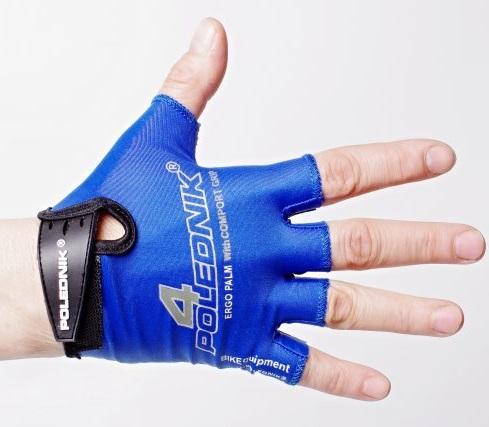 Dětské cyklistické rukavice Polednik F4 modré - 4