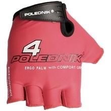 Cyklistické rukavice Polednik F4 2015 červené - XL