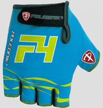 Cyklistické rukavice Polednik F4 2016 modré - M