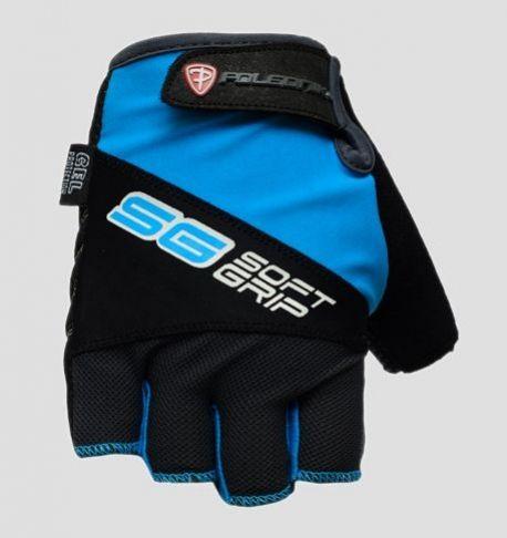 Cyklistické rukavice Polednik SOFT GRIP modré - L