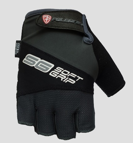 Cyklistické rukavice Polednik SOFT GRIP černé - L