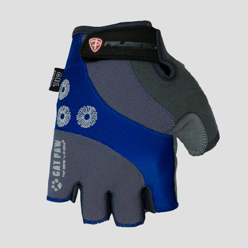 Dámské cyklistické rukavice Polednik Daisy modré - S