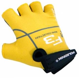 Dětské cyklistické rukavice Polednik F3 žluté - 3
