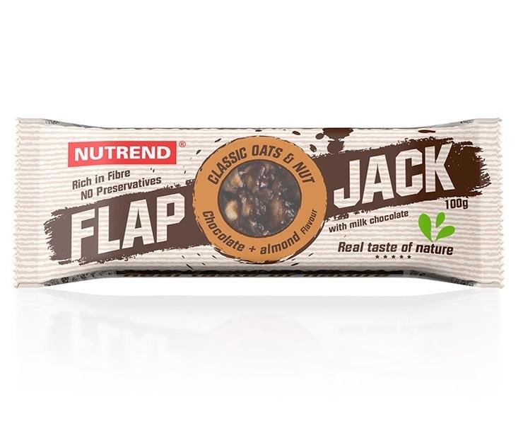 Nutrend Flapjack 100g 4+1 zdarma - čokoláda+mandle s mléčnou čokoládou