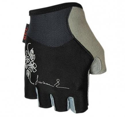 Dámské cyklistické rukavice Polednik Chloris černé - M
