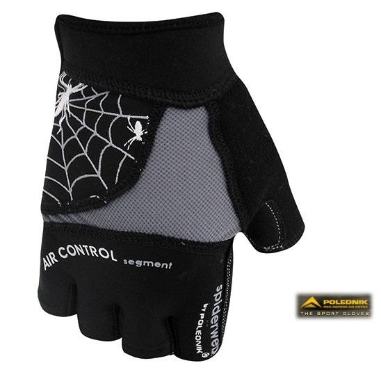 Cyklistické rukavice Polednik Spiderweb černé - M