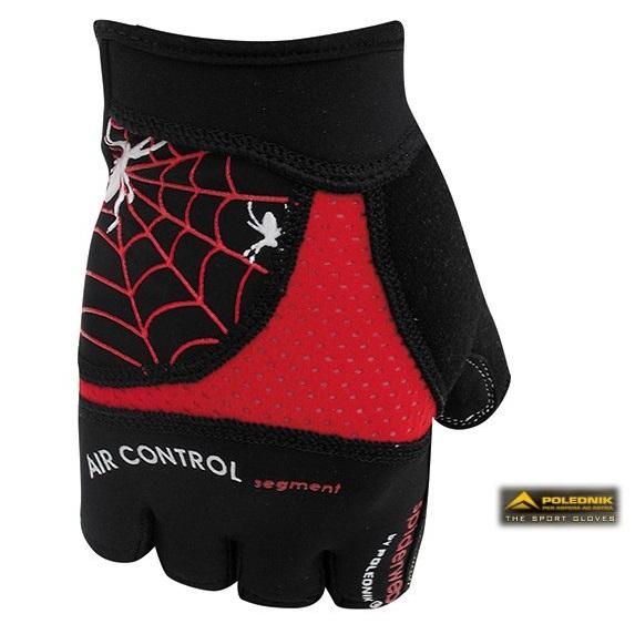 Cyklistické rukavice Polednik Spiderweb červené - M