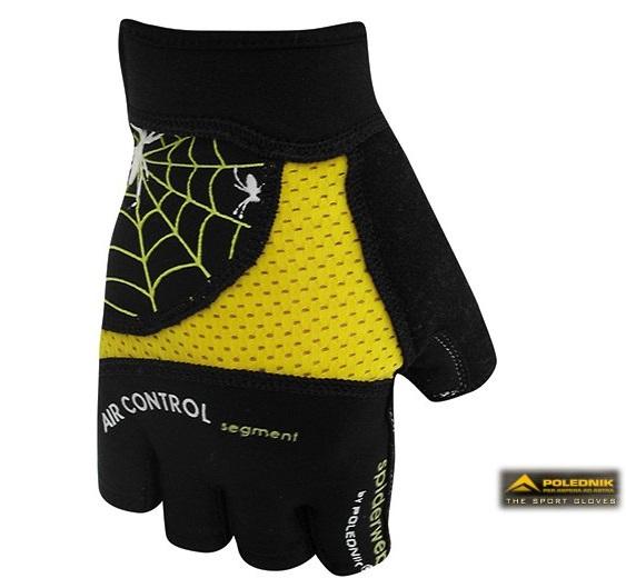 Cyklistické rukavice Polednik Spiderweb žluté - M