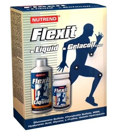Nutrend Flexit 500ml liq + Gelacol 180cps ZDARMA - pomeranč