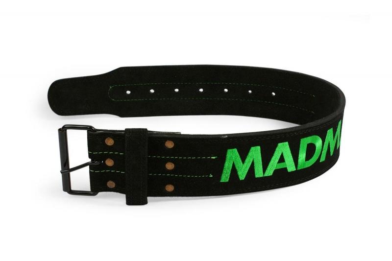 Fitness opasek Madmax kožený s karabinou - L
