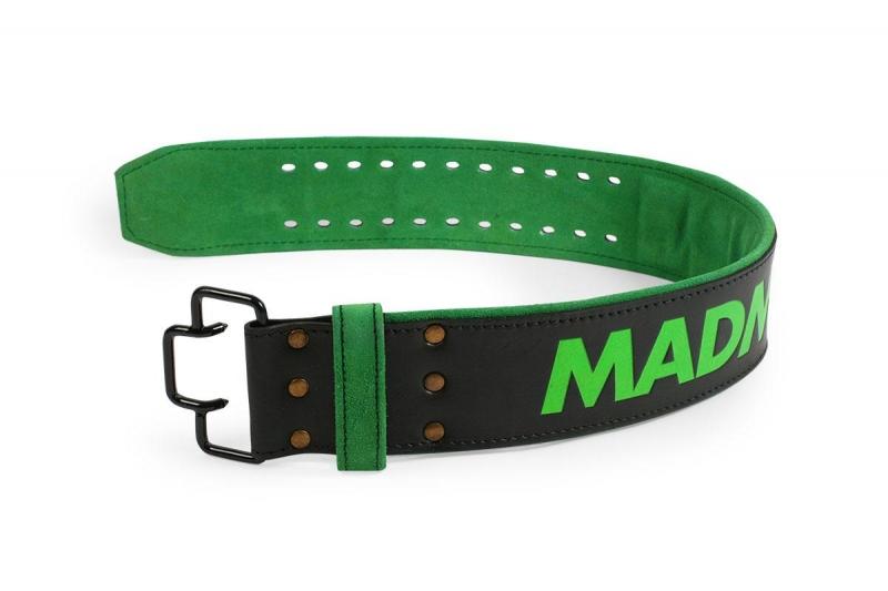 Fitness opasek Madmax kožený s trny - L