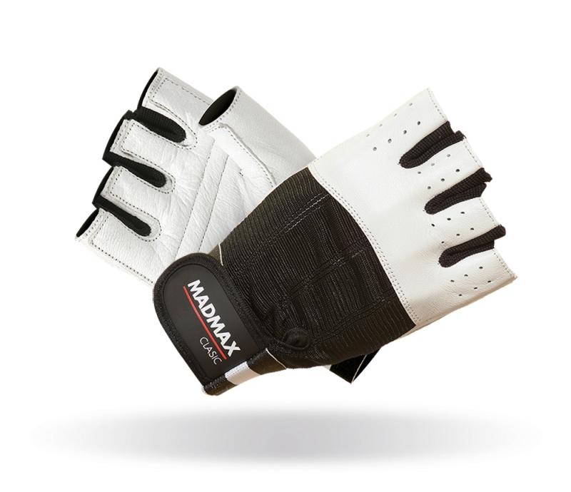 Fitness rukavice Madmax Clasic White - L