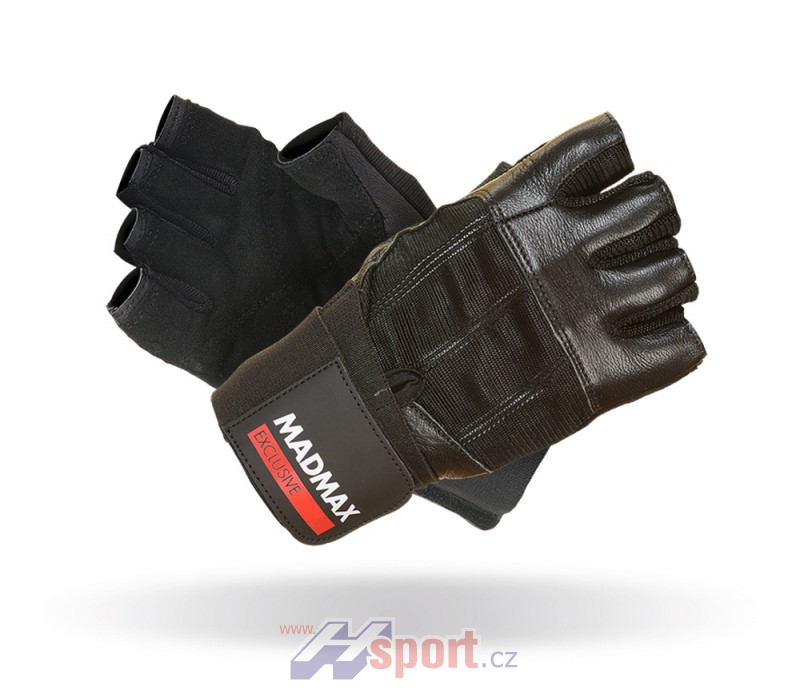 Fitness rukavice Madmax Professional Black Exclusive