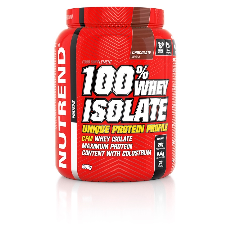 Nutrend 100% Whey Isolate 900 g - jahoda