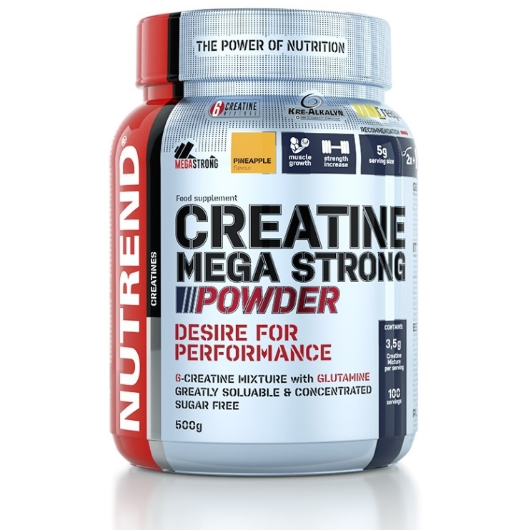 Nutrend Creatine Mega Strong Powder - 500 g - broskev