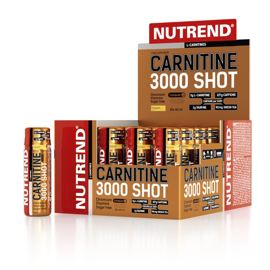Nutrend Carnitine 3000 Shot - 20 x 60ml - jahoda
