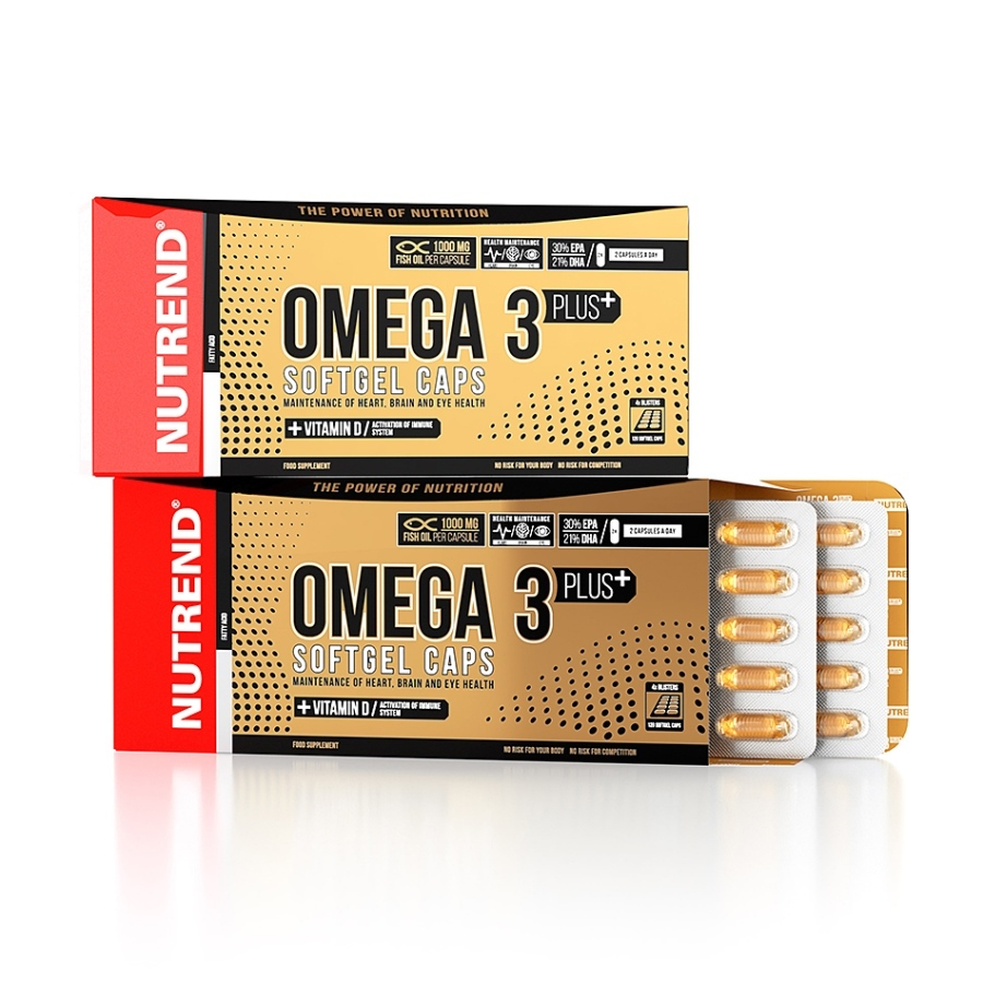 Nutrend Omega 3 Plus Softgel Caps - 120 cps