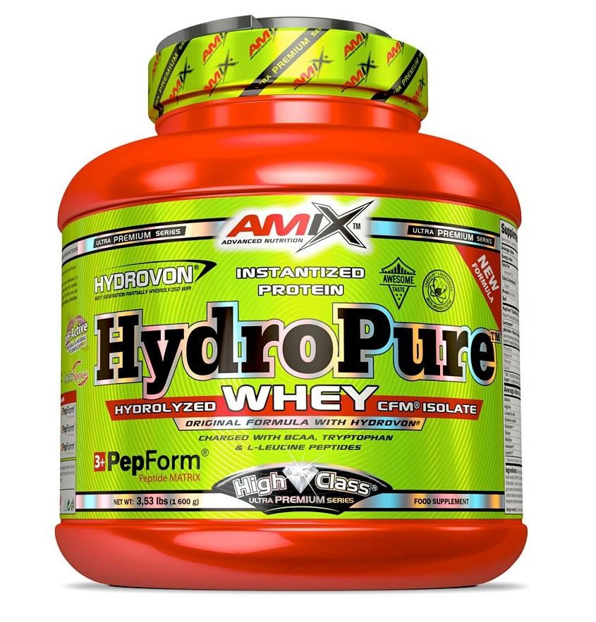 Amix HydroPure Whey Protein 1600 g - francouzský jahodový jogurt