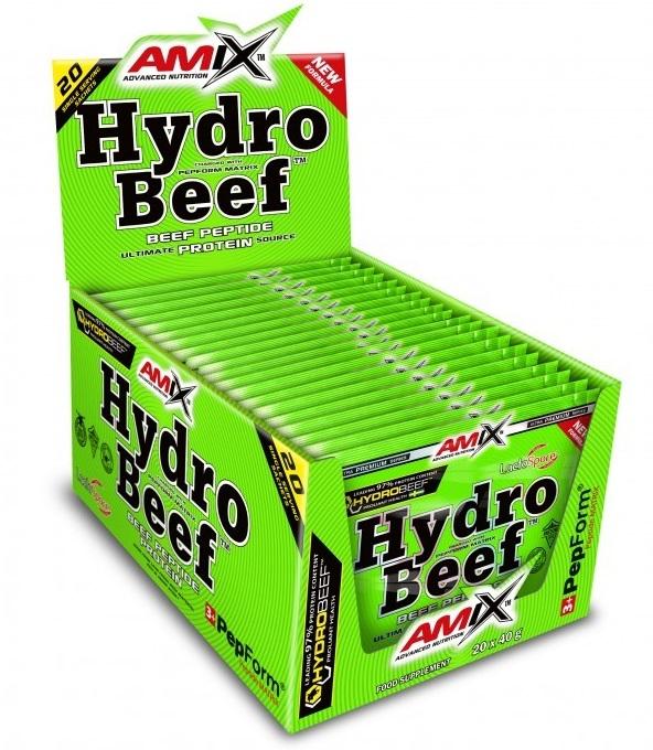 Amix HydroBeef Peptide Protein 20 x 40 g - čokoláda-lesní ovoce