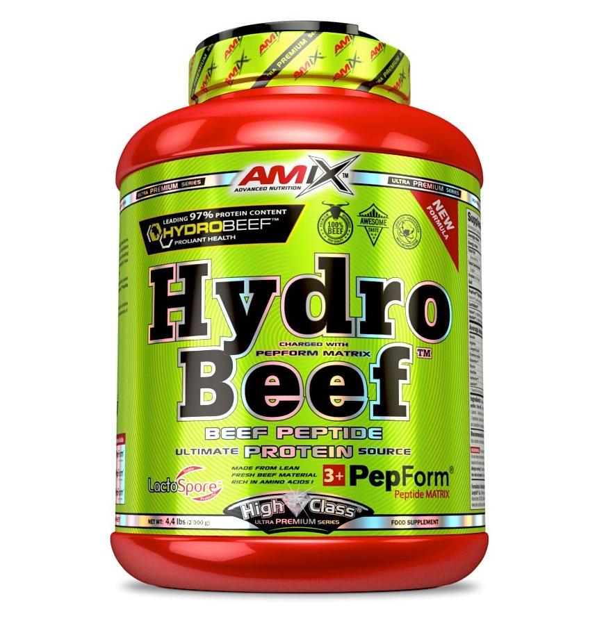 Amix HydroBeef Peptide Protein 2000 g - čokoláda-arašídy-karamel