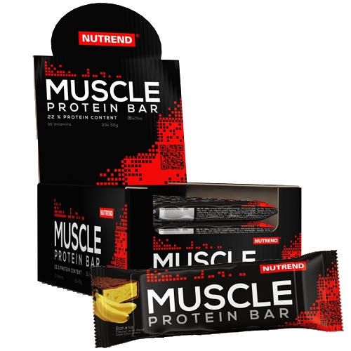 Nutrend Muscle Protein Bar 55 g - banán