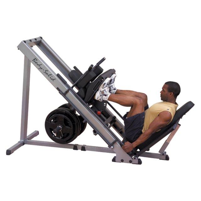 Insportline Posilovací stroj kombinovaný Leg Press a Hacken dřep BODY-SOLID - GLPH1100