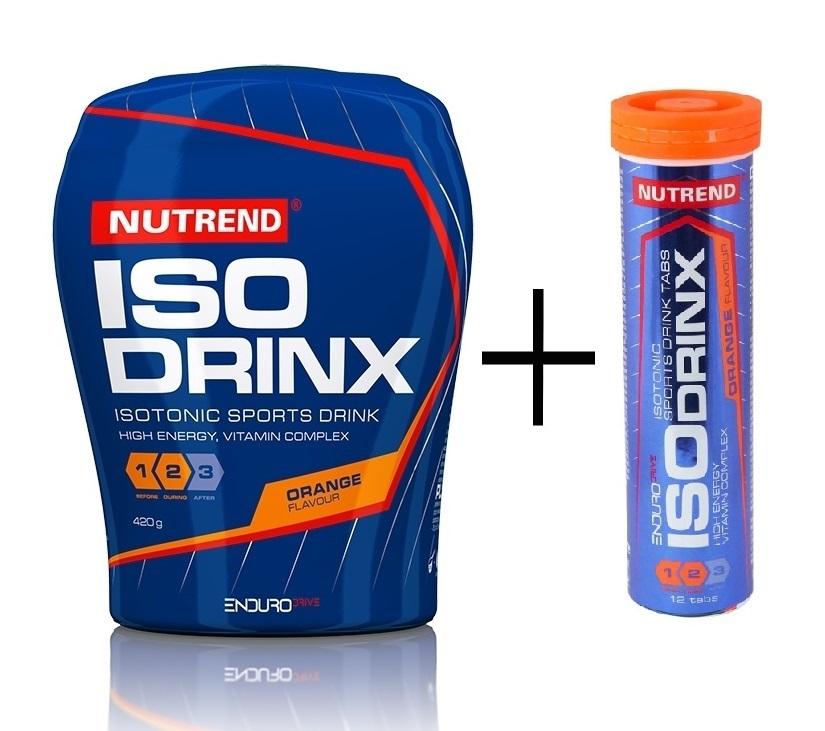Nutrend Enduro ISOdrinx 420 g + ISOdrinx tabs 12 tbl - pomeranč