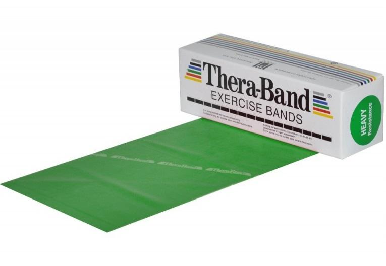 Posilovací guma TheraBand 5,5 m zelená