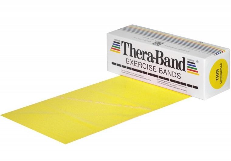 Posilovací guma TheraBand 5,5 m žlutá