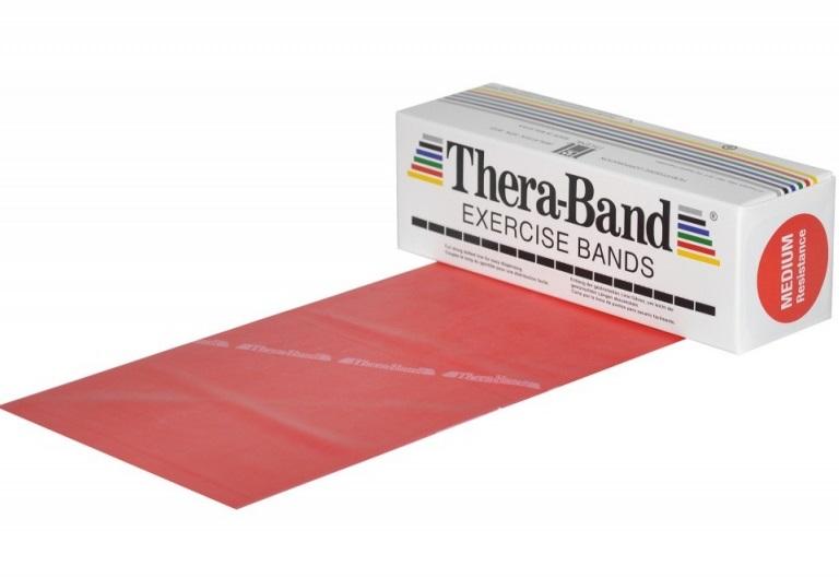 Posilovací guma TheraBand 5,5 m červená