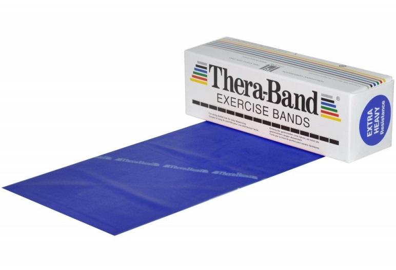 Posilovací guma TheraBand 5,5 m modrá