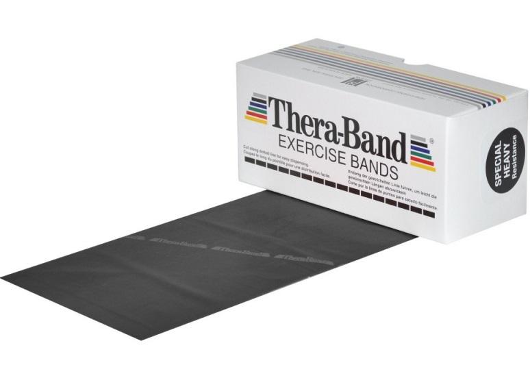 Posilovací guma TheraBand 5,5 m černá