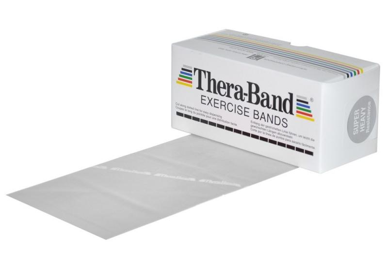 Posilovací guma TheraBand 5,5 m stříbrná