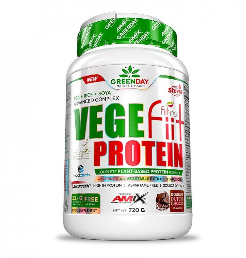Amix Vegefiit Protein 720 g - dvojitá čokoláda