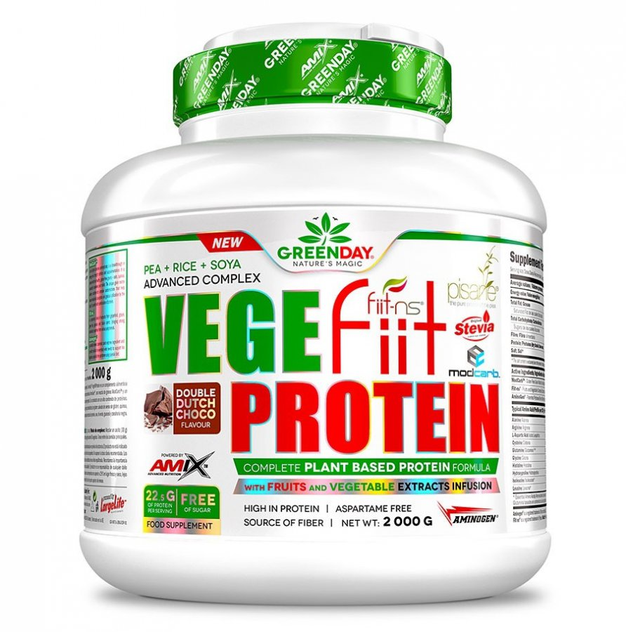 Amix Vegefiit Protein 2000 g - dvojitá čokoláda