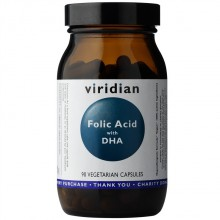 Viridian Folic Acid with DHA 90 cps